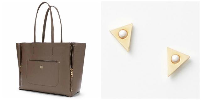 Earrings and Bag